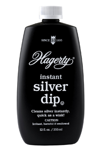 Hagerty Instant Silver Dip: removes heavy tarnish in seconds