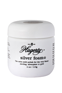 Hagerty Silver Foam for jewelry: The extra mild polish for the very finest sterling, silverplate, and gold.