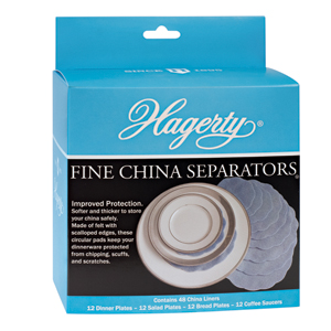 Hagerty Fine China Plate Separators: 48 soft felt separators protect china from chipping and scratching.