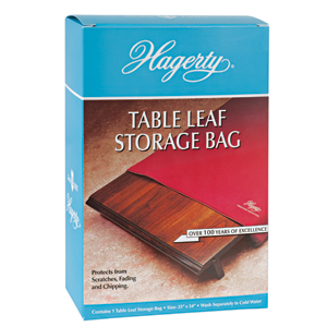 Hagerty Table Leaf Storage Bag: A zippered soft, cotton flannel bag that stores and protects extra table leaves.