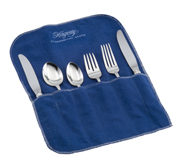 Hagerty 6 piece Place Setting Roll: Tarnish preventing storage for six pieces of sterling, silver plate, or gold silverware.