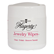 Hagerty Jewelry Wipes: Wet, disposable wipes make silver, gold, platinum, diamonds, etc. shine!